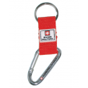 Swiss Military - Schlüsselanhänger mit Karabiner - rot