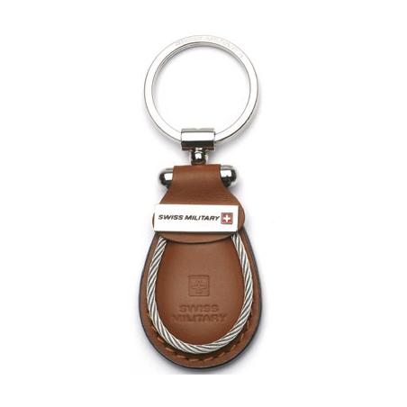 Swiss Military - Schlüsselanhänger aus Leder - braun