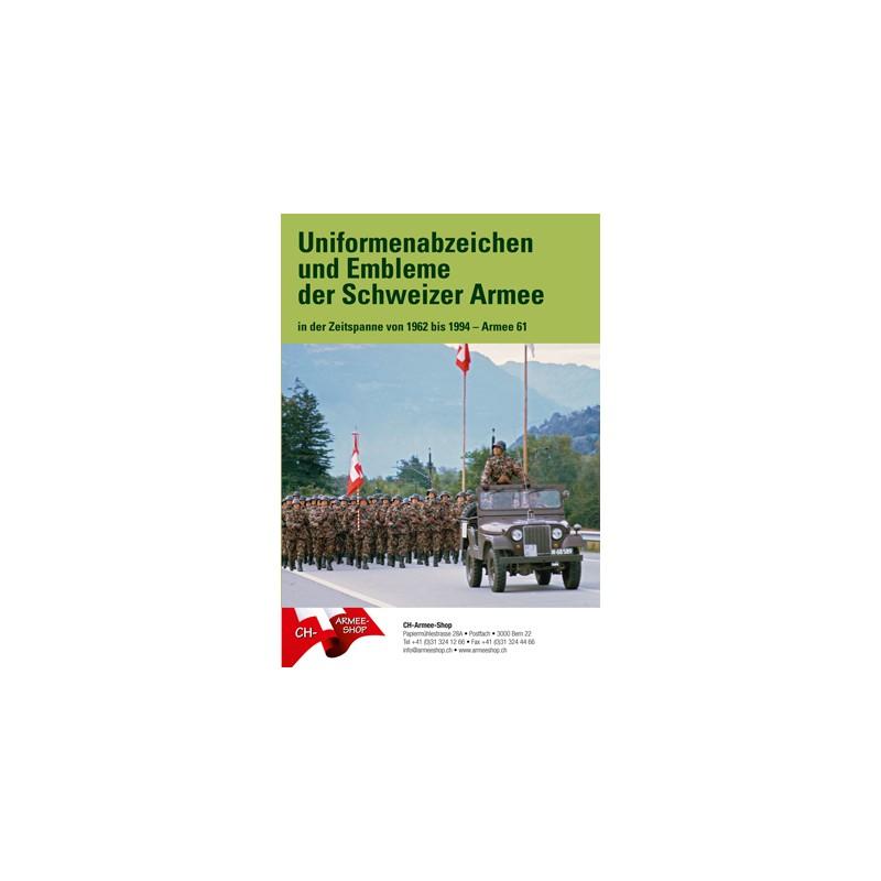 Broschüre Uniformenabzeichen und Embleme der Schweizer Armee