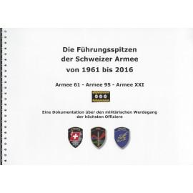 Die Führungsspitzen der Schweizer Armee von 1961 bis 2016