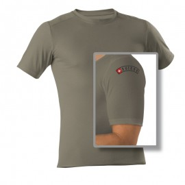 "T-Shirt 1/4 - Army ""SUISSE"" - Unisex"