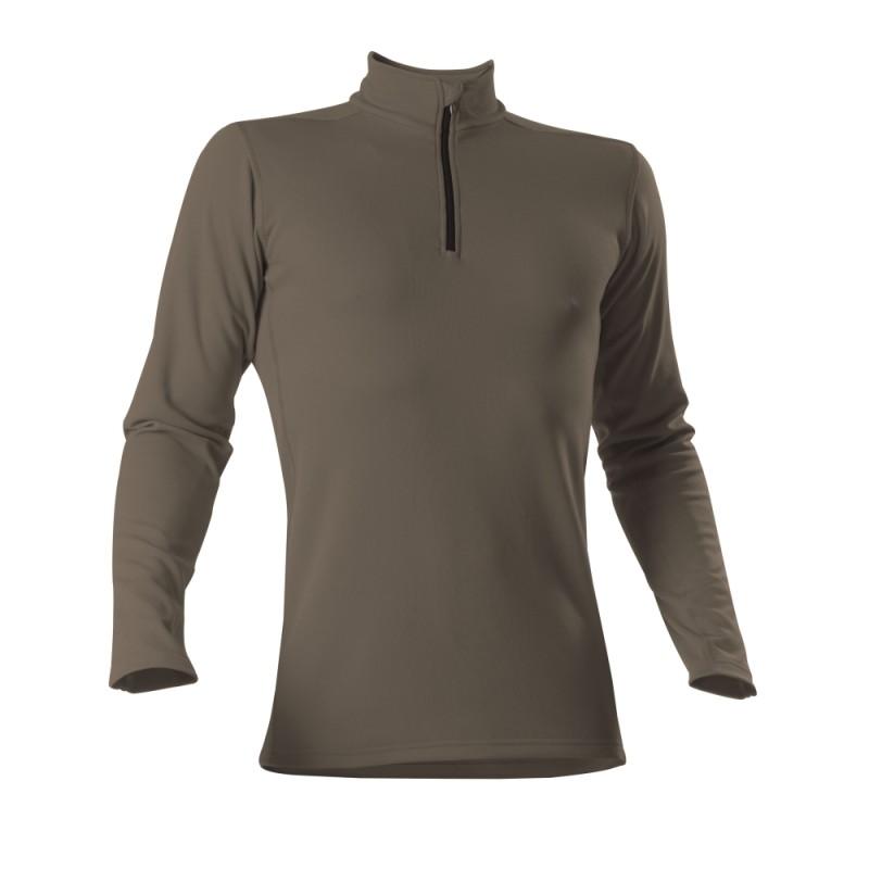 Roll-Shirt zip - Man - oliv