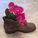 Militärschuh mit Blume