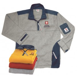 Swiss Military - Fleece Pullover - grau/blau