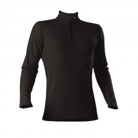 Roll-Shirt zip - Man - schwarz