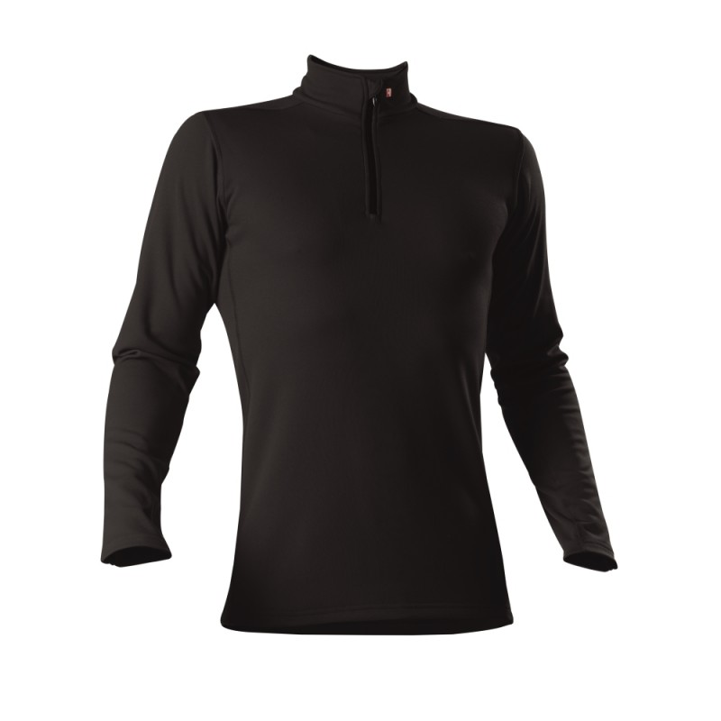 Roll-Shirt zip - Man - schwarz