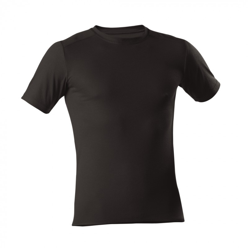 T-Shirt 1/4 - Unisex - schwarz