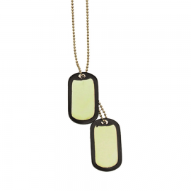 US Dog-Tag - Erkennungsmarke - gold