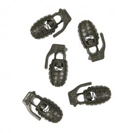 Kordelstopper Handgranate - 10 Stück - oliv