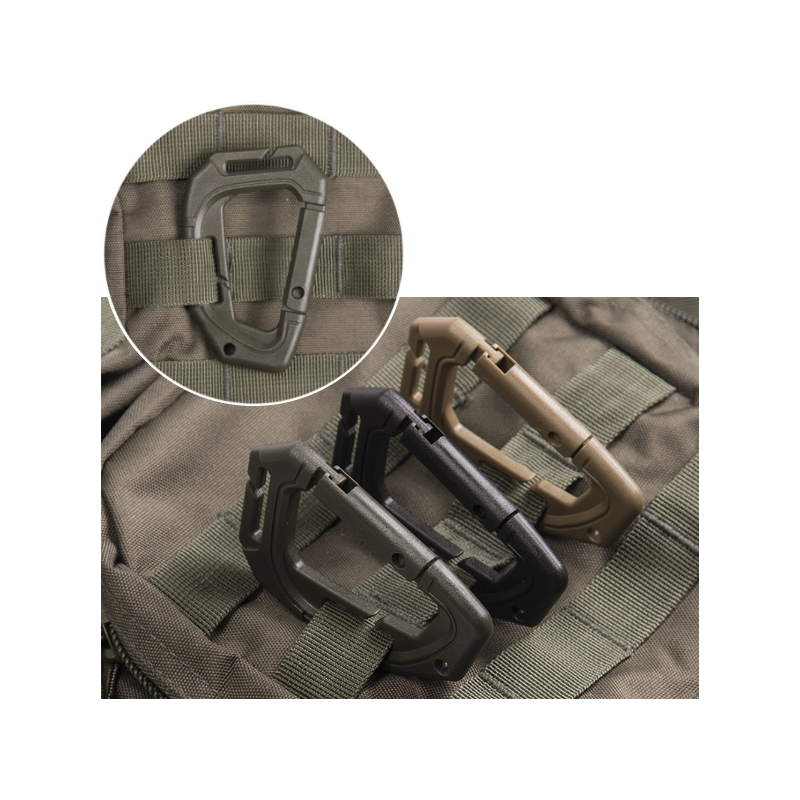 Tactical Karabiner Molle - 2 Stück - oliv