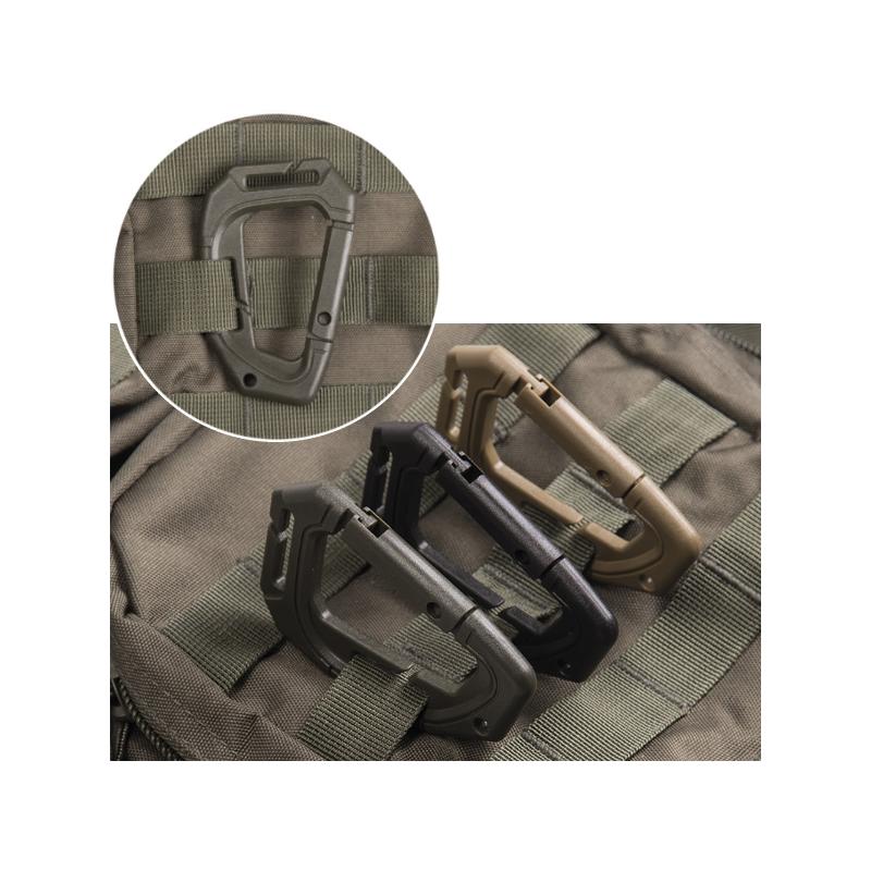 Tactical Karabiner Molle - 2 Stück - schwarz