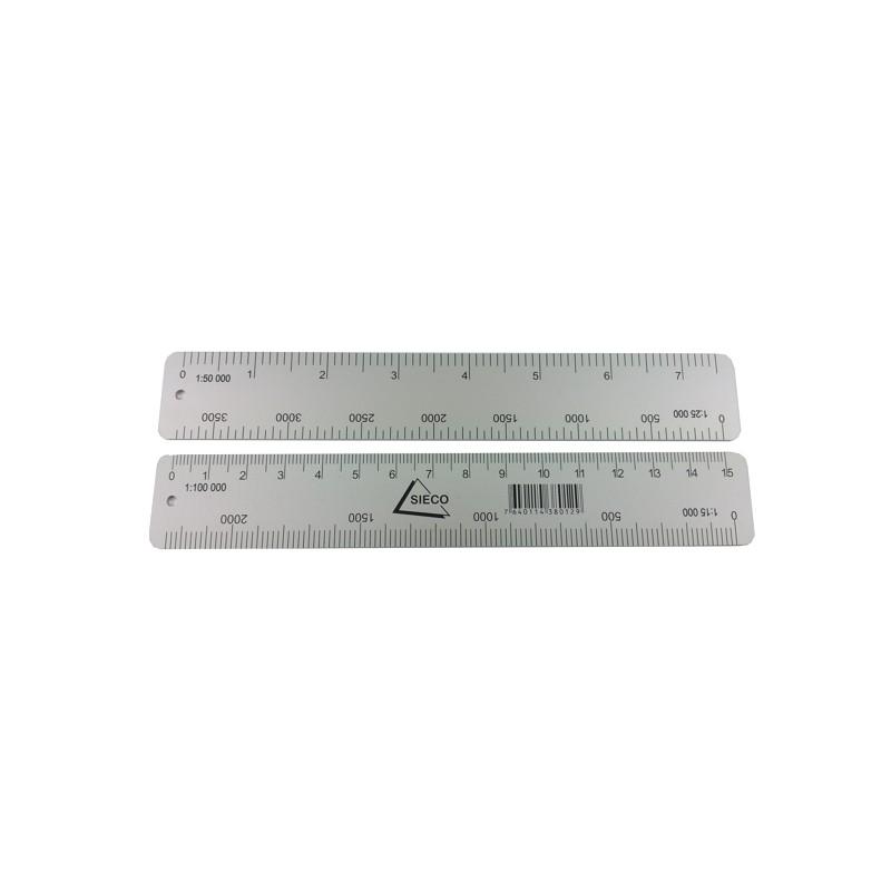 Sieco Karten-Massstab Aluminium (150mm)