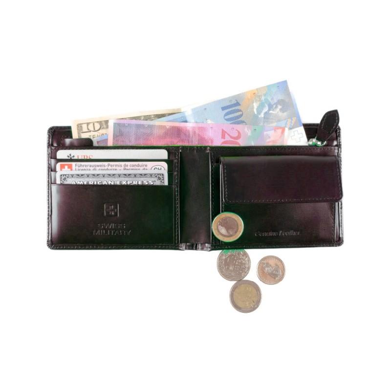 Swiss Military - Leder-Geldbörse - braun