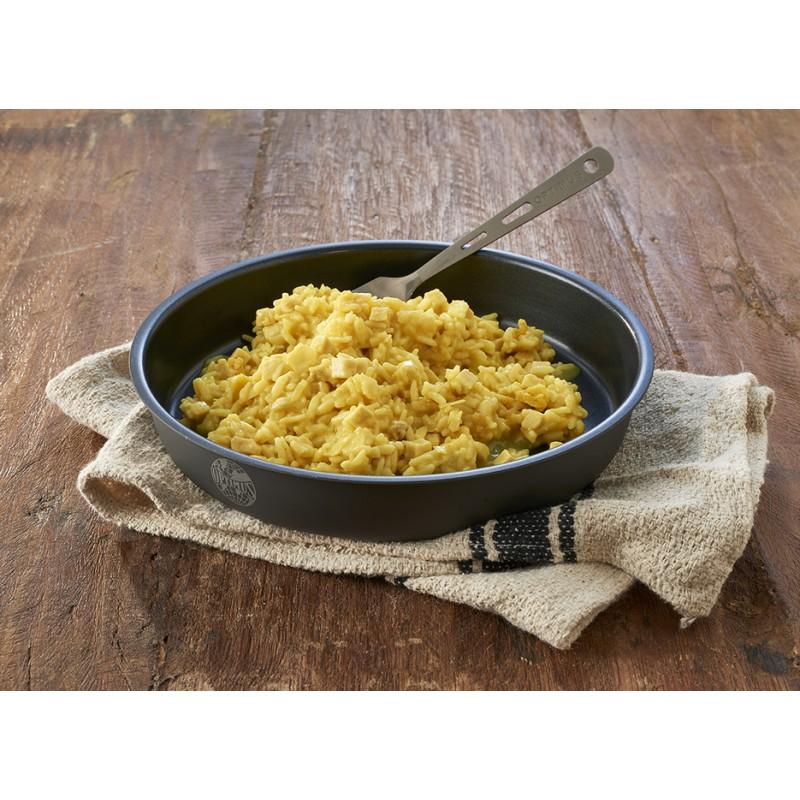 Poulet mit Curryreis
