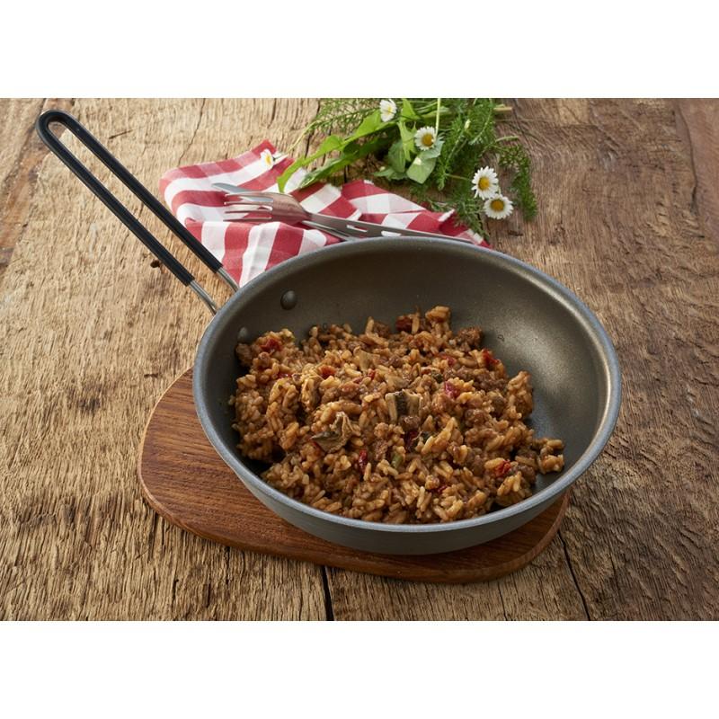 Rindfleisch Stroganoff mit Reis