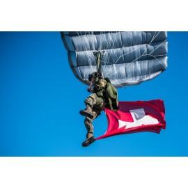 Späher am Fallschirm