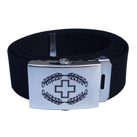 Koppelgürtel mit CH-Logo - schwarz