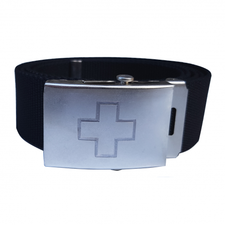 Koppelgürtel mit Schweizerkreuz - schwarz