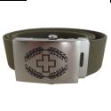 Koppelgürtel mit CH-Logo - oliv