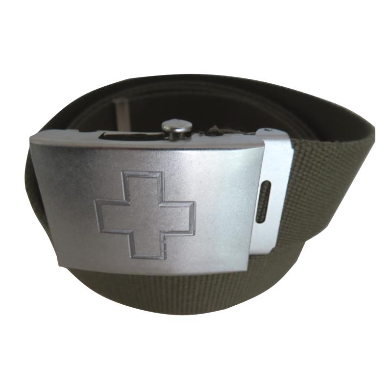 Koppelgürtel mit Schweizerkreuz - oliv
