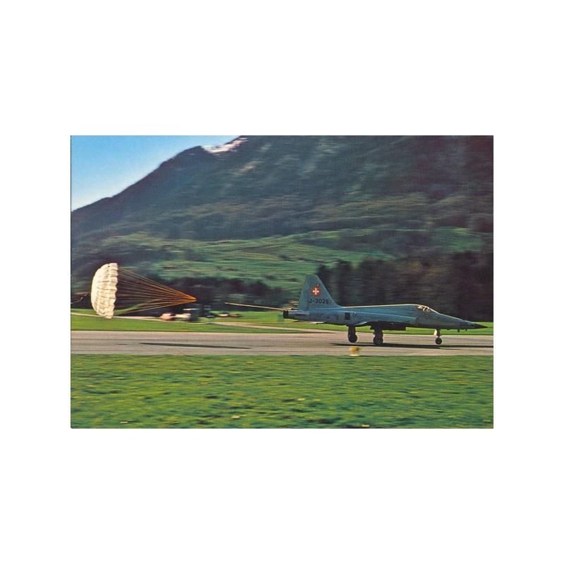 Postkarte: Flz Tiger mit Landebremsschirm
