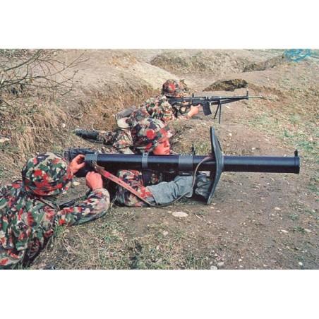 Postkarte: Raketenrohr 8,3 cm