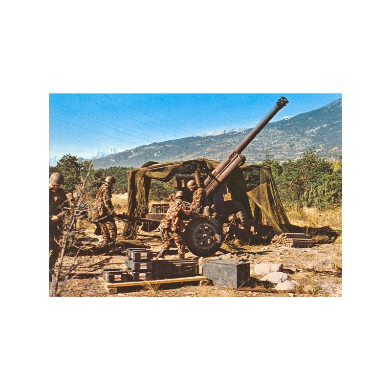 Postkarte: Artilleriekanone 10.5 cm