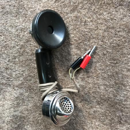 Militär Telefonhörer antik