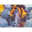 Postkarte: Brandbekämpfung mit Grossstrahlrohr