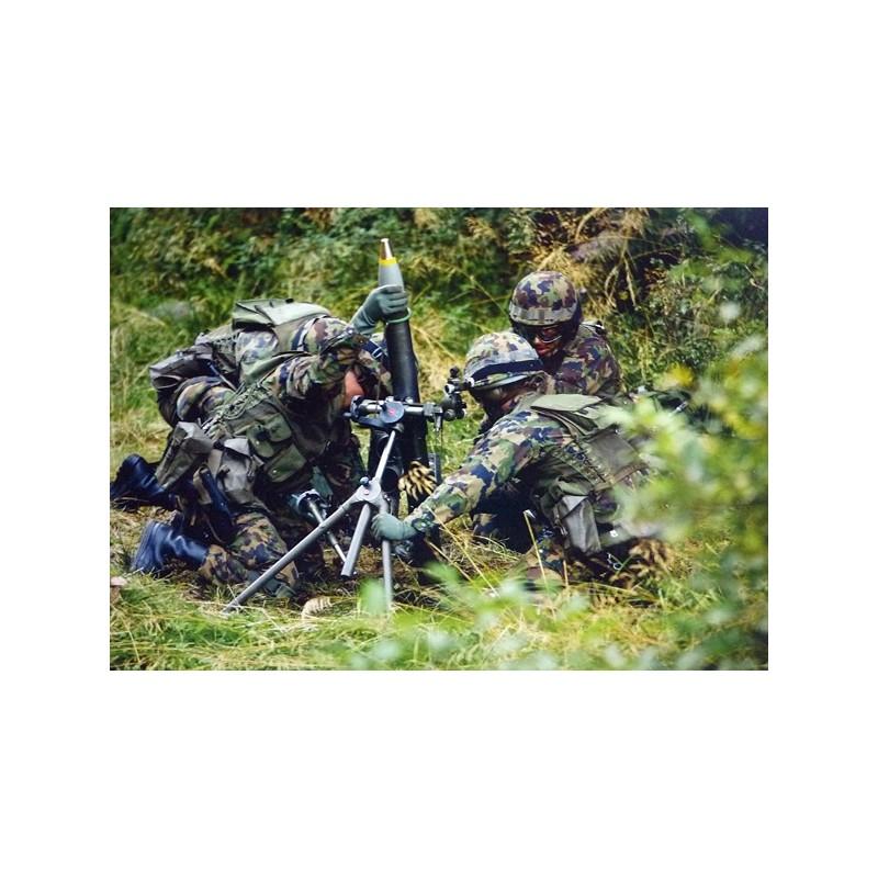 Postkarte: Infanterie Grenadiere mit 8.1 cm Minenwerfer