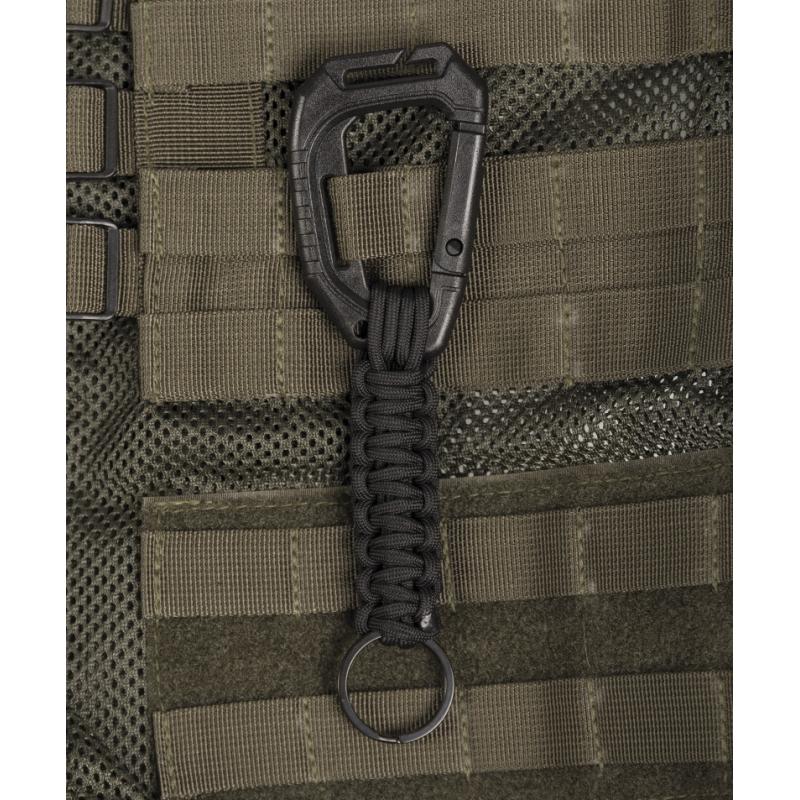 Schlüsselanhänger Paracord Molle - schwarz