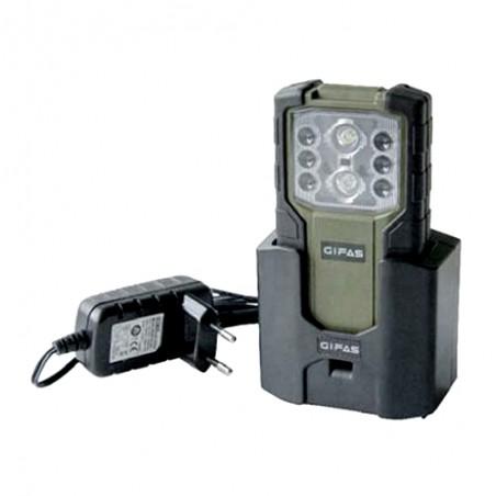 Armee-Taschenlampe 15 inkl. Ladestation und Akkuzellen