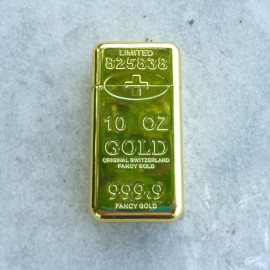 Gas-Feuerzeug - Goldbarren
