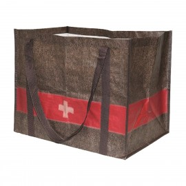 Einkaufstasche im Wolldeckendesign