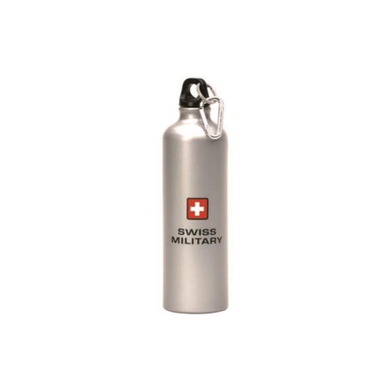 Swiss Military - Sportflasche - silber