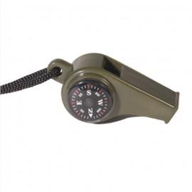 Signalpfeife mit Kompass
